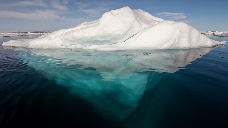 Iceberg_1__in_the_Arctic_with_its_underside_exposed